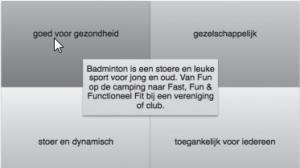 Badminton stoer en leuk
